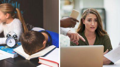 school or work stress