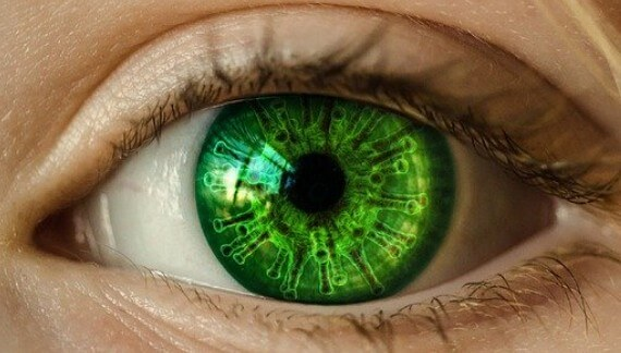 Covid eye image